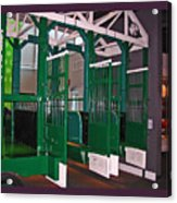 The Starting Gate Display In The Kentucky Derby Museum Acrylic Print