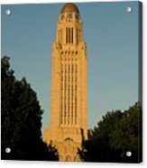 The State Capitol Building In Lincoln Acrylic Print