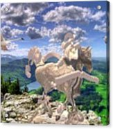 The Statue Of The Rock Acrylic Print