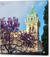 The Steeple Of The Valldemossa Charterhouse In Spring Acrylic Print