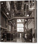 The Stegmaier Brewery Boiler Room Wilkes Barre Pennsylvania 1930's Acrylic Print