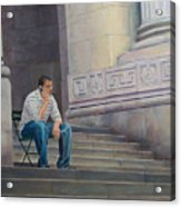 The Steps To The Humanities Acrylic Print