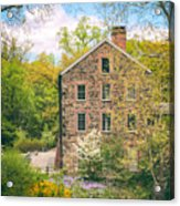 The Stone Mill In Spring Acrylic Print