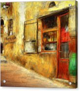 The Street  -- Original Painting Acrylic Print