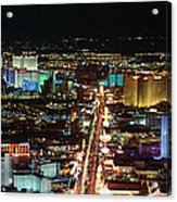 The Strip At Las Vegas,nevada Acrylic Print