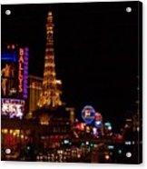 The Strip At Night 1 Acrylic Print