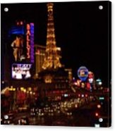 The Strip At Night 2 Acrylic Print