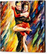 The Sublime Tango - Palette Knife Oil Painting On Canvas By Leonid Afremov Acrylic Print