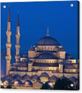 The Sultanahmet Or Blue Mosque At Dusk Acrylic Print