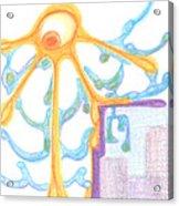 The Sun Breaks Clouds. 19 September, 2015 Acrylic Print