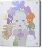 The Sun Flower Child Fairy Acrylic Print