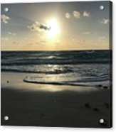 The Sun Is Rising Over The Ocean Acrylic Print