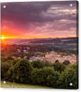 The Sun Sets Over Hexham Acrylic Print