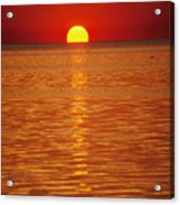 The Sun Sinks Into Pamlico Sound Seen Acrylic Print