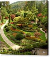 The Sunken Garden At Butchart Gardnes Acrylic Print