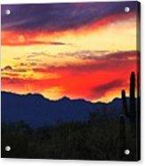 Sunrise In Tucson  Acrylic Print