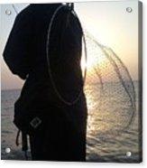 The Sunset Fisherman Acrylic Print