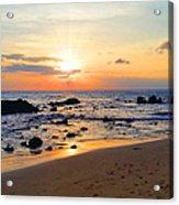The Sunset Of Maui Acrylic Print