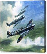The Supermarine Spitfire Mark Ix Acrylic Print by Wilfred Hardy