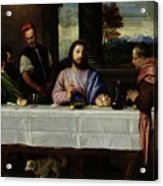 The Supper At Emmaus Acrylic Print by Titian