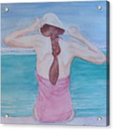 The Swim Cap Acrylic Print
