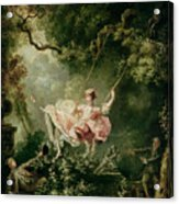 The Swing  Acrylic Print by Jean-Honore Fragonard