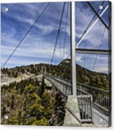 The Swinging Bridge Of Grandfather Mountain Acrylic Print