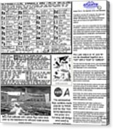The Symbols Of The Latin Alphabet Acrylic Print
