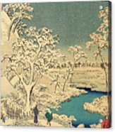 The Taiko Bridge And The Yuhi Mound At Meguro, From The Hundred Famous Views Of Edo Acrylic Print