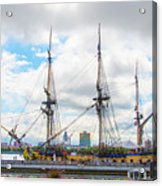 The Tall Ship Hermione - Philadelphia Pa Acrylic Print