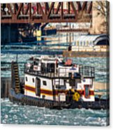 The Tanner On The Icy River Acrylic Print