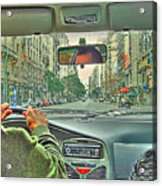 the Taxi Driver Acrylic Print