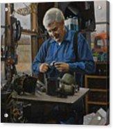 The Technician Acrylic Print by Doug Strickland