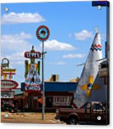 The Tee-pee Curios On Route 66 Nm Acrylic Print