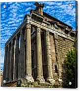 The Temple Of Antoninus And Faustina Acrylic Print