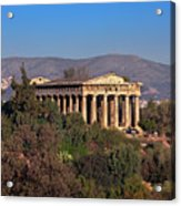 The Temple Of Hephaestus In The Morning, Athens, Greece Acrylic Print