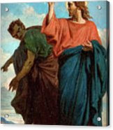 The Temptation Of Christ By The Devil Acrylic Print