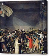 The Tennis Court Oath Acrylic Print by Jacques Louis David