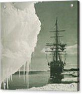 The Terra Nova At The Ice Foot Cape Evans Acrylic Print