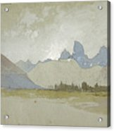 The Tetons, Idaho, 1879 Acrylic Print