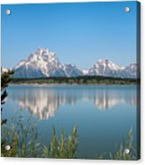 The Tetons On Jackson Lake - Grand Teton National Park Wyoming Acrylic Print