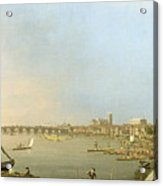The Thames From The Terrace Of Somerset House Acrylic Print