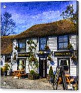 The Theydon Oak Pub Art Acrylic Print