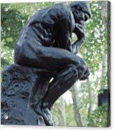The Thinker By Rodin Acrylic Print