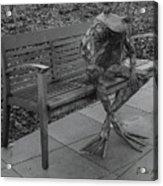 The Thinking Frog Acrylic Print