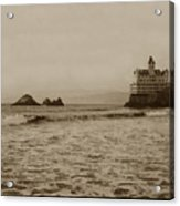 The  Third Cliff House And Seal Rocks From Pier, San Francisco,  Circa 1895 Acrylic Print