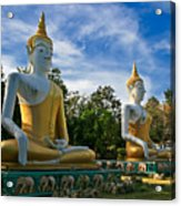The Three Buddhas  Acrylic Print