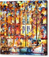 The Three Friends - Palette Knife Oil Painting On Canvas By Leonid Afremov Acrylic Print