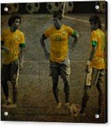 The Three Kings Marcelo Hulk Neymar Os Tres Reis  Acrylic Print