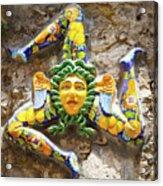 The Three-legged Symbol Of Sicily, Italy - Trinacria  Acrylic Print